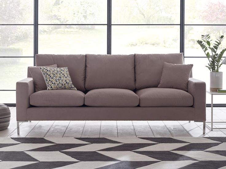 Imogen Sofa - Generous in its size and modern in its profile, great care and craftsmanship is seen throughout Imogen's design and this is showcased in the sofa's strong frame and stylish metallic feet - by www.livingitup.co.uk