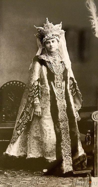Last Russian ball, which was in 1903, wearing her kokoshnik