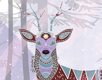 """Check out new work on my @Behance portfolio: """"Deer"""" http://be.net/gallery/43917071/Deer"""