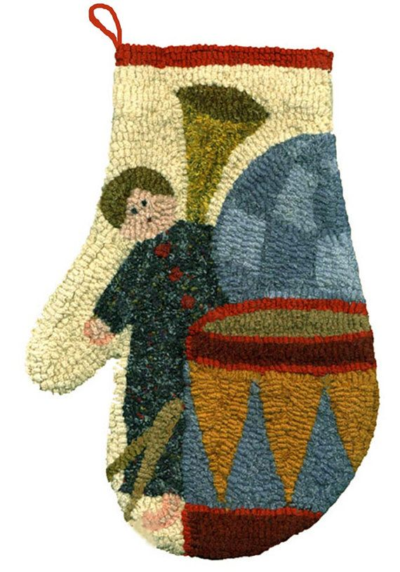 Toy Mitten Original Hooked Rug Pattern By Maryellenwolffdesign,