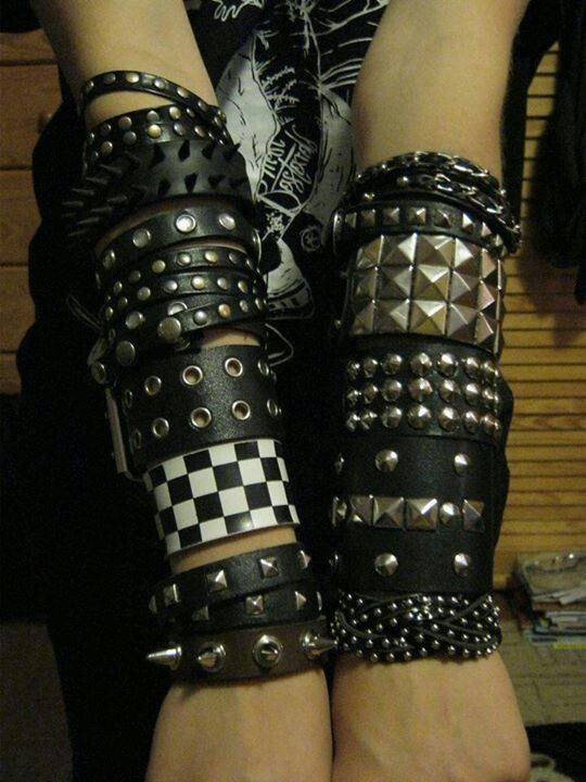Awesome wristbands | Dream Closet | Emo outfits, Emo ...