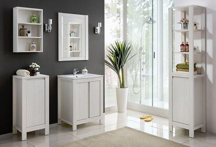 Set mobilier baie stil clasic alb