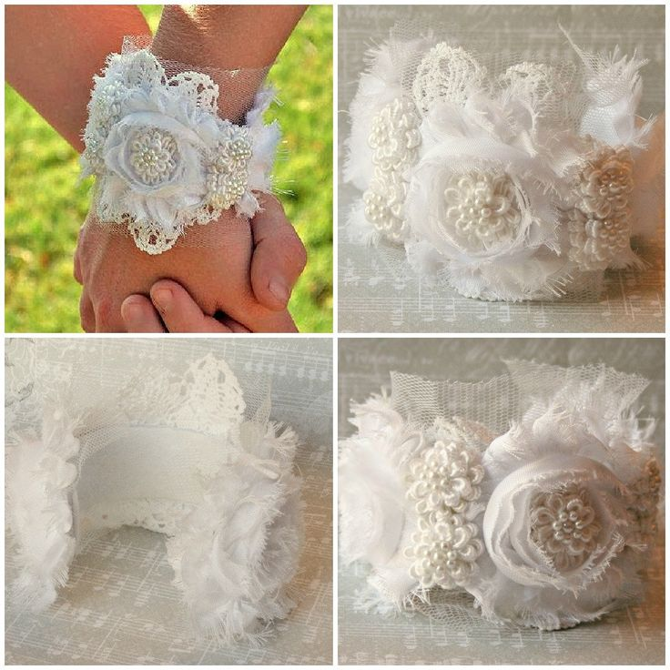 Cuff Bracelet, Bridal Cuff Bracelet, Lace Cuff Bracelet, Pearl Cuff Bracelet, Flower Cuff Bracelet, Wedding Jewelry. $48.00, via Etsy.