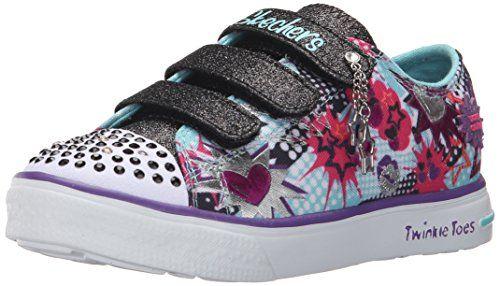Skechers Kids Twinkle Breeze-Pop Life Light-Up Sneaker (Little Kid), Turquoise/Black, 12 M US Little Kid - http://all-shoes-online.com/skechers-kids/skechers-kids-twinkle-toes-prolifics-light-up-kid-92
