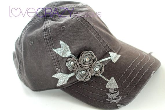 Arrow baseball hat trucker hat by LoveCrazyDesigns on Etsy