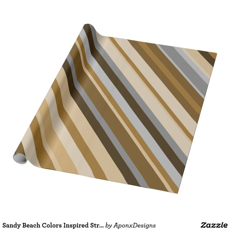 Sandy Beach Colors Inspired Striped Pattern