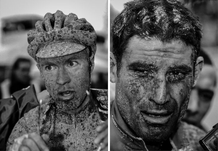 Paris-Roubaix :: Jens Voigt (left) and George Hincapie (right) are in need of a shower.