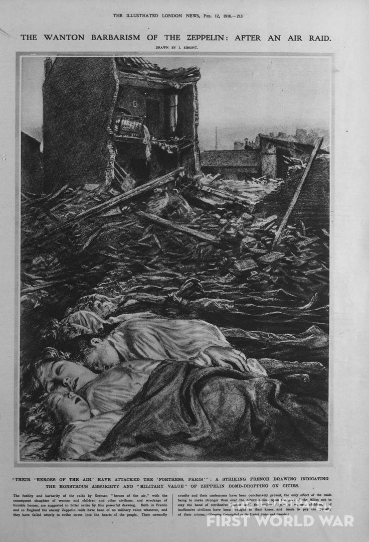 Feb 12 1916 Illustrated London News - The Wanton Barbarism of the Zeppelin:After an Air Raid