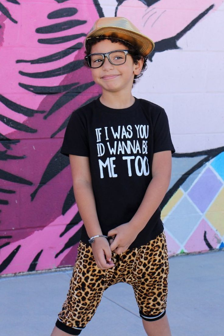 If I Was You I'd Wanna Be Me Too - Monochrome trendy kids graphic tees that are gender neutral and easy to style!