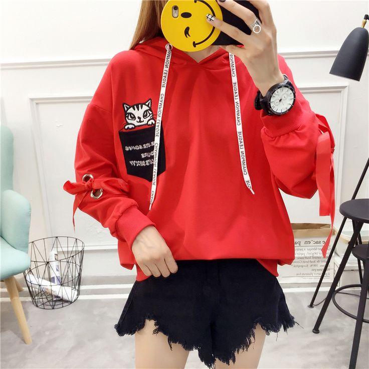 Быстрая рука чистый красный забрать Лолита Ян Цинлинь мало не указывают с кашемировым свитером капюшон с длинными рукавами с капюшоном куртка женщина - Taobao