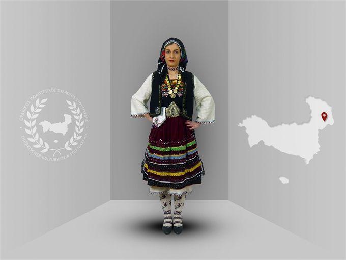 Thrace, Ellinoxori (Evros), traditional costume  -Thracian culture club Stuttgart-  www.thraki.de