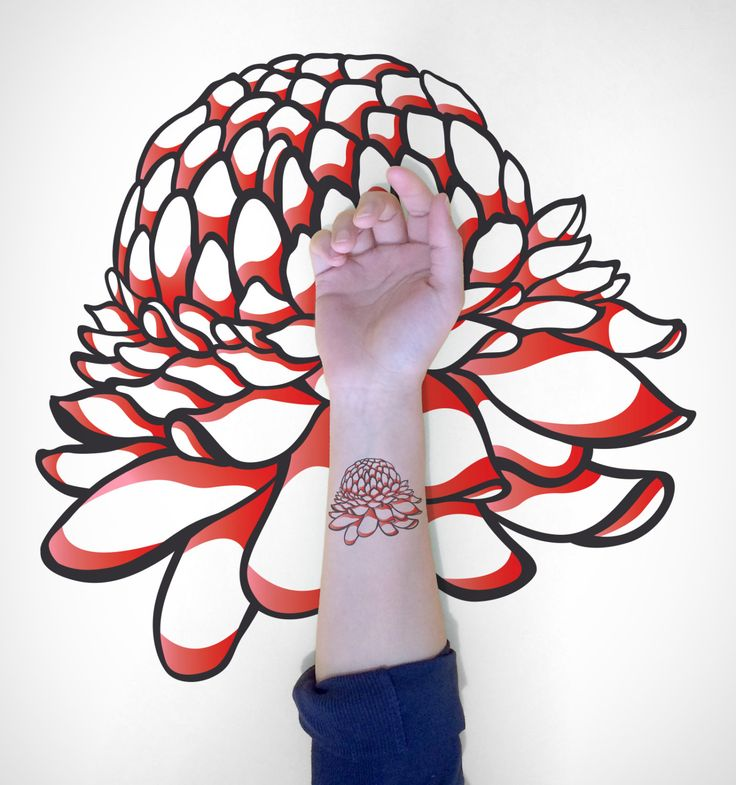 Blooming Flower Temporary Tattoo / Flower by EasternCloud on Etsy