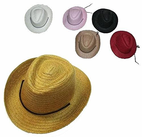 GET READY FOR THE RODEO CHILDREN'S COWBOY HATS ASSORTED COLORS WE HAVE ASSORTED COLORS SO COLOR WILL VARY BRAND NEW ONE SIZE FITS MOST KIDS CHIN STRAP HIGH QUALITY WOVEN STRAW HATS GREAT FOR THE COSTU...