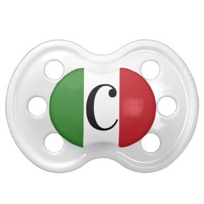 Italian Flag Colors Italy Green White Red Pacifier - wedding party gifts equipment accessories ideas