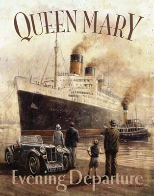 Queen Mary by Kevin Walsh Vintage Fine Art Poster Print