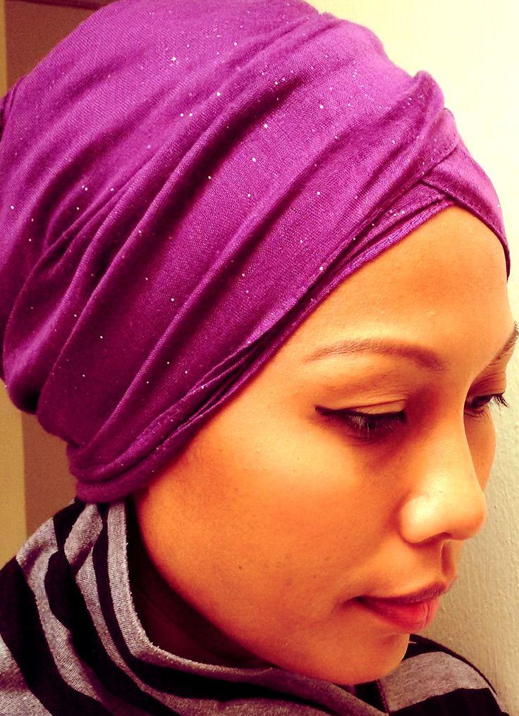 Glitter turban  #hijab #turban #casual