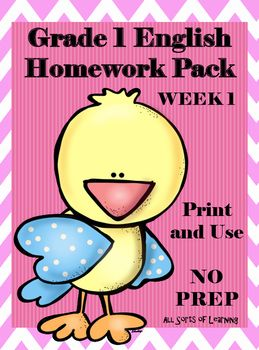 I usually send out my homework pack on a Friday and expect it to be completed and returned by Wednesday.  This gives me a chance to mark it and prepare the following weeks homework pack.  I place the pack in a plastic folder for each student.This pack includes the following;Pg 4 - Letter to parents that lists the contents of the   homework pack and provides any instructions that may be needed.
