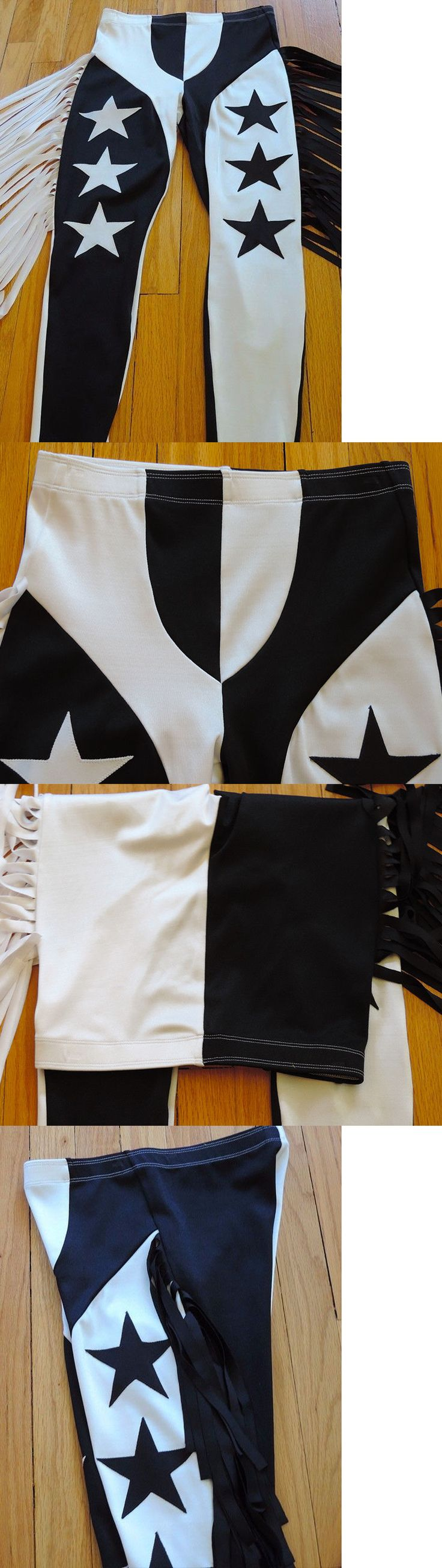 Clothing 79796: S Fringe Wrestling Tights Randy Savage Style Black White Star Cosplay Gear -> BUY IT NOW ONLY: $49.99 on eBay!
