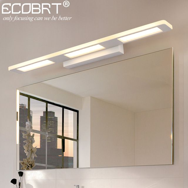 Ecobrt Modern 12w 18w Bathroom Led Wall Lights Fixtures For Home Indoor White Wall Sconces 110 240v Ac Rev Led Wall Lights Mirror With Led Lights Modern Toilet