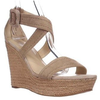 Marc Fisher Haely Espadrille Wedge Sandals, Light Natual.