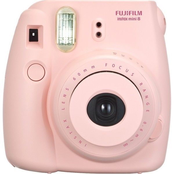 Fujifilm instax mini 8 Instant Film Camera Pink ($70) ❤ liked on Polyvore featuring accessories and fujifilm