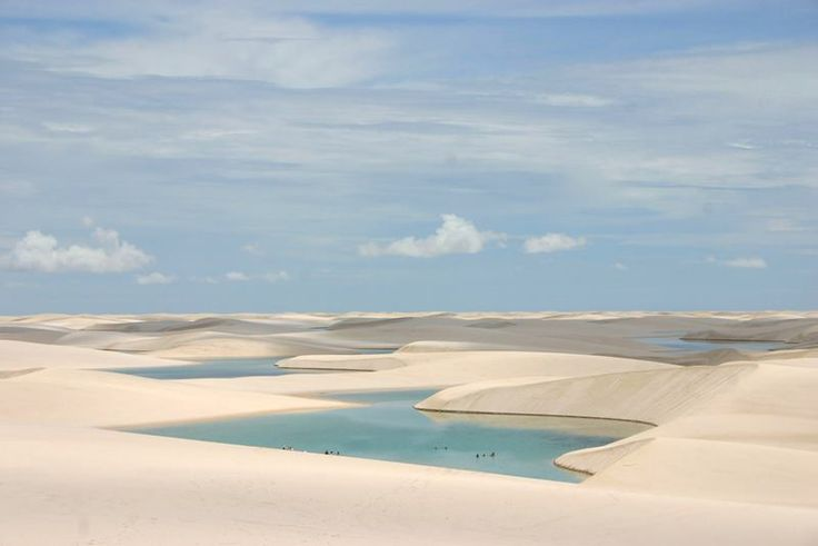 Lencois Maranhenses National Park, Crystal clear water between the Dunes