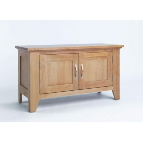 Cambridge Oak 2 Door Cabinet CO2105  www.easyfurn.co.uk