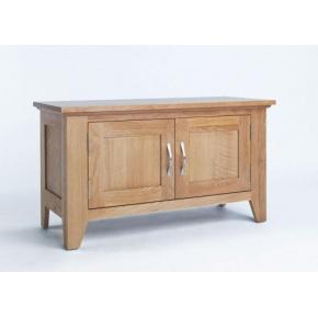 Cambridge Oak 2 Door Cabinet CO2105  www.easyfurn.co.uk