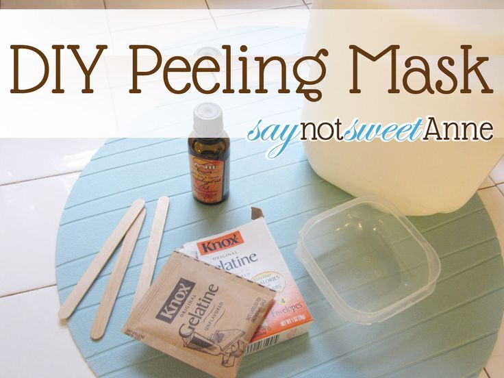 I do this about once a month. Great results. Supper soft glowing skin. -T Make your own peeling mask