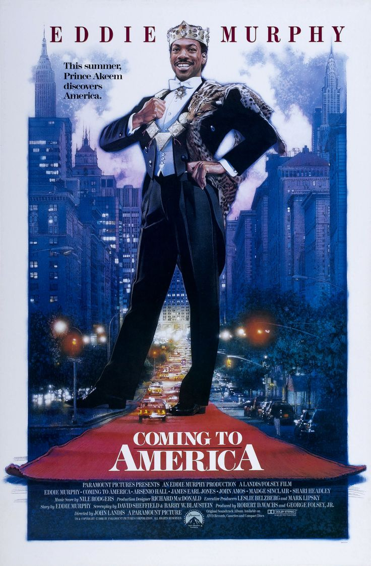 """Coming to America"" (1988). COUNTRY: United States. DIRECTOR: John Landis. CAST…"