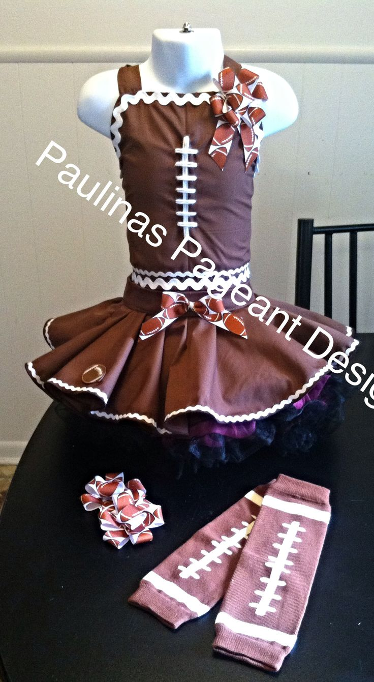 National Pageant Football Casual Wear. Facebook: Paulina's Pageant Designs