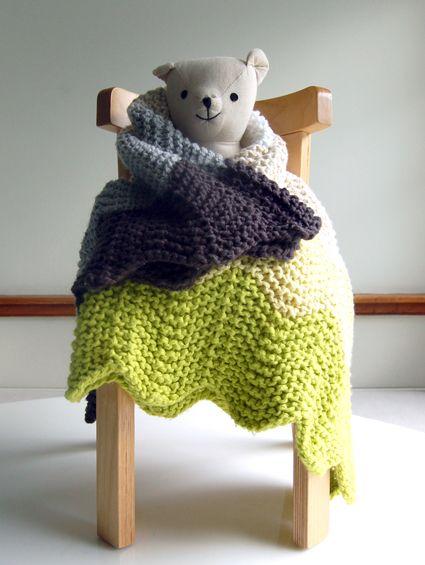Chevron Baby Blanket - the purl bee