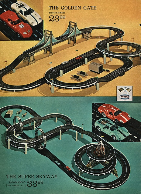 Slot Car Racing ~ 1968 Montgomery Ward Christmas Catalog by Wishbook, via Flickr