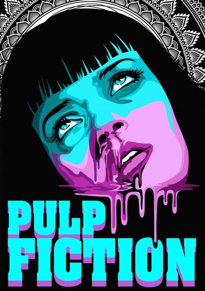 Pulp Fiction Mia Wallce Uma Thurman Quentin Tarantino Digital Art Vector