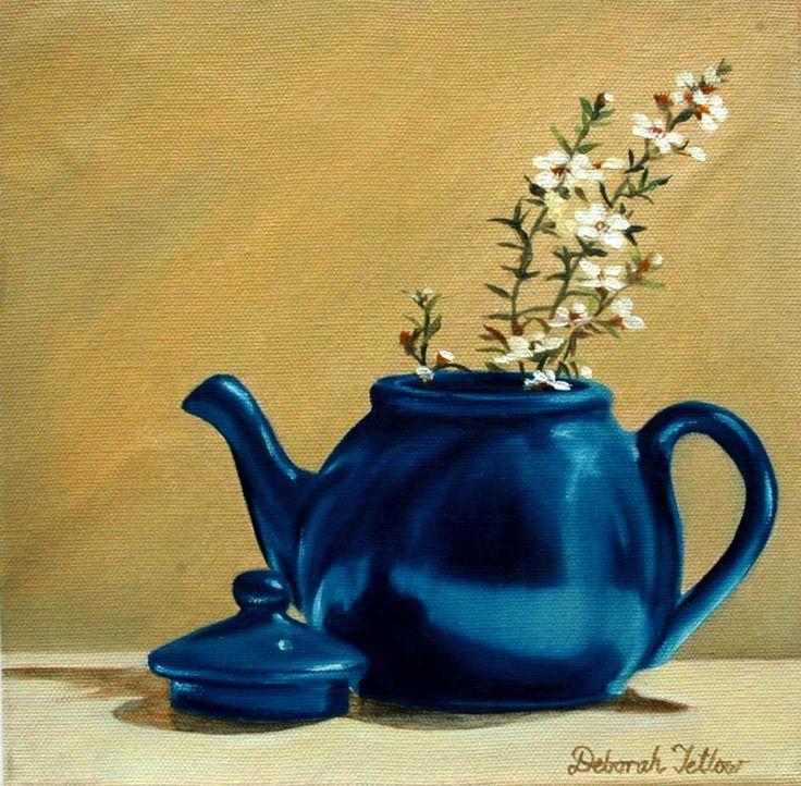 Parnell Gallery artist Deborah Tetlow Teapot http://www.parnellgallery.co.nz/artworks/artist-deborah-tetlow/teapot/