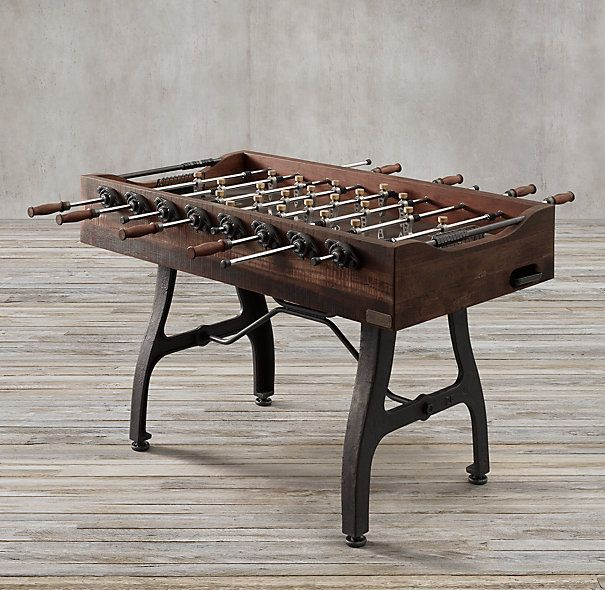 Vintage Industrial Foosball Table | Restoration Hardware