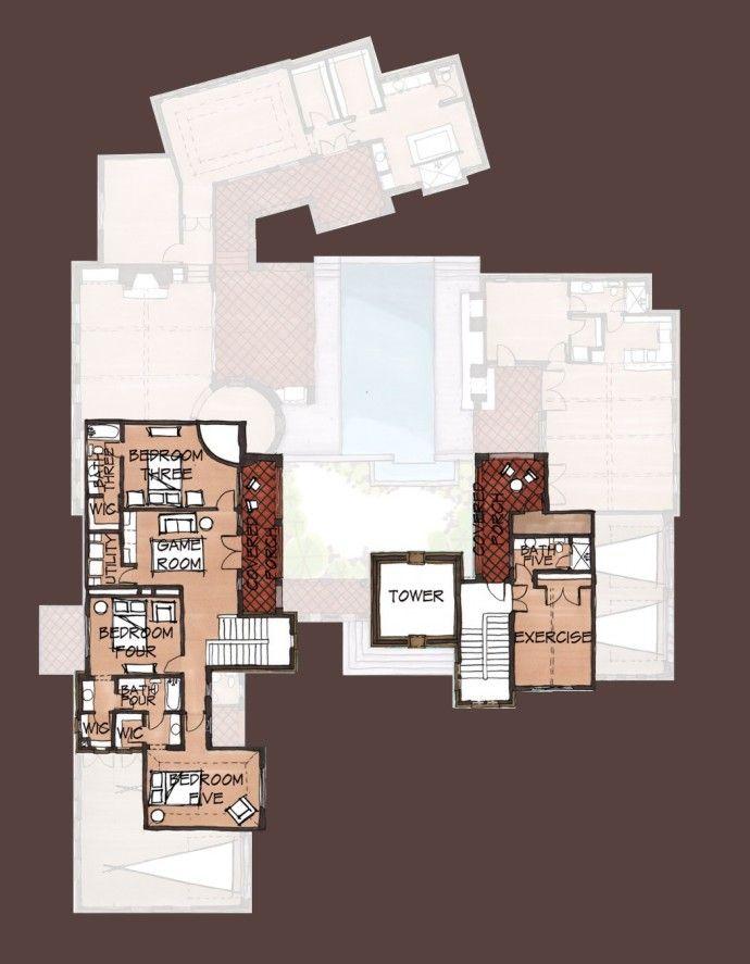 17 best images about floor plans on pinterest for Hacienda floor plans