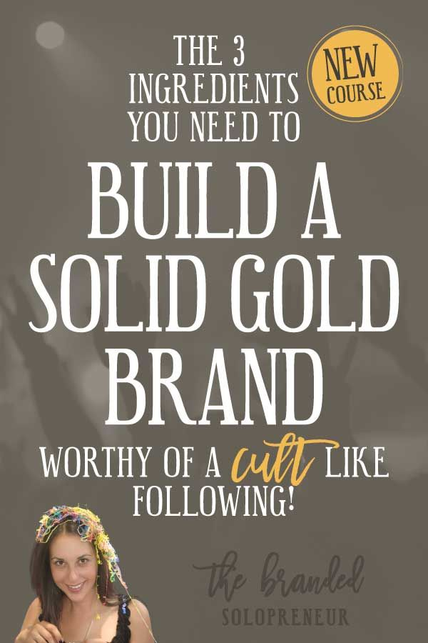 {NEW Mini Course} The 3 Ingredients You Need to Build a Solid Gold Brand Worthy of a Cult Like Following! | In this brand new course, you're going to learn how to build a solid gold, unapologetically genuine, personality rich brand that will keep your digital doorbell ringing off the hook.   Branding design | Branding board | Branding identity | Branding inspiration | Branding ideas | Branding ideas for small business | Branding ideas marketing | Brand board ideas | Brand board inspiration