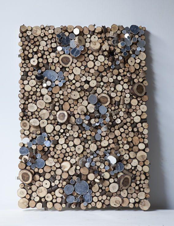 #wood #logs #art #wall #decor #home