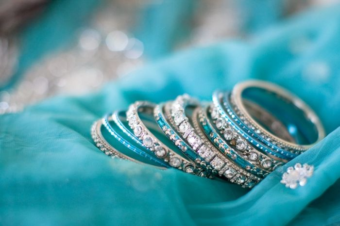 Turquoise silver bangles