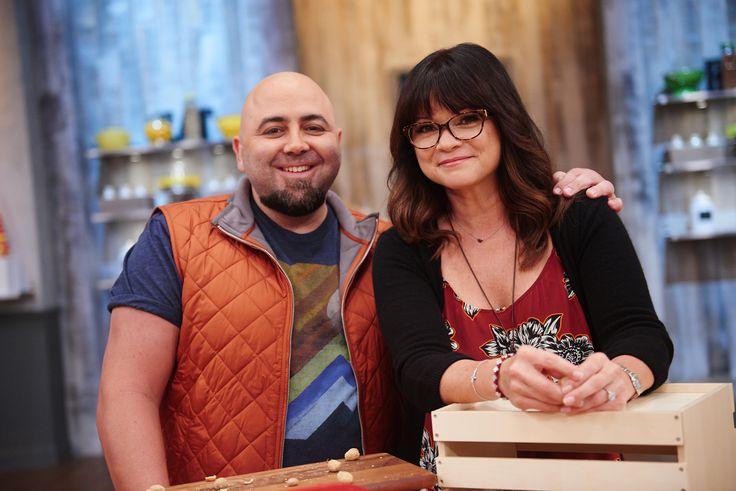 Host Duff Goldman and Valerie Bertinelli on Food Network's Kids Baking Championship