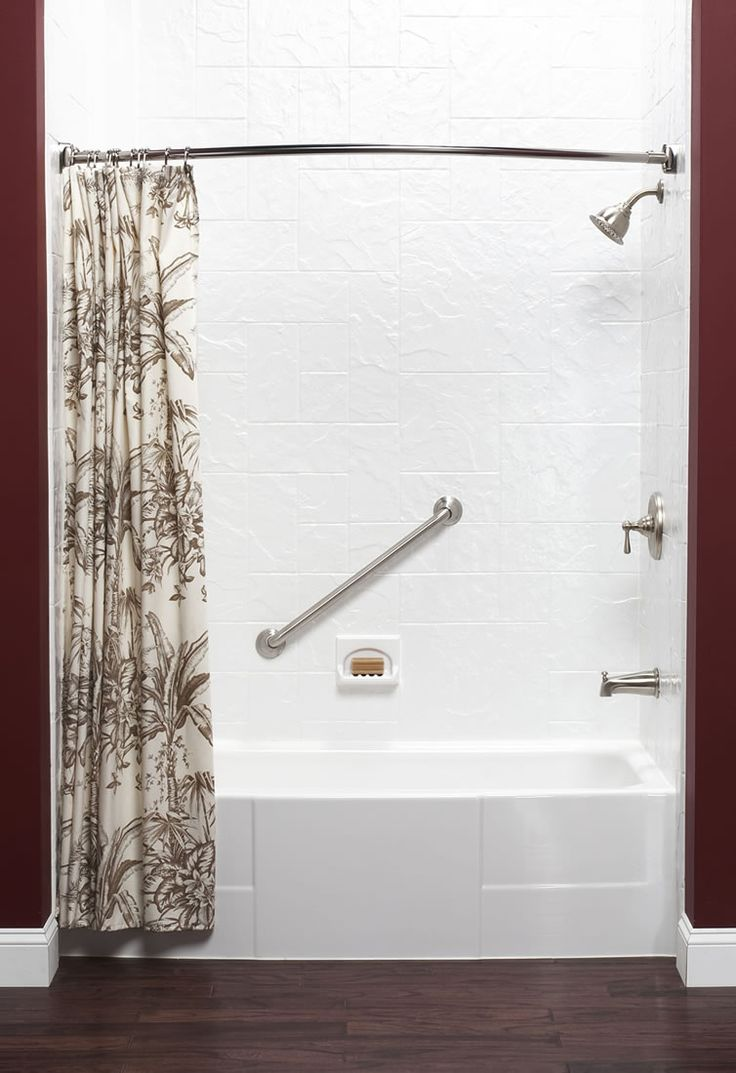 In the bathroom while taking a shower or a well deserved bubble bath - An Amazing Bathroom Transformation For A Well Deserving Veteran Check Out This Bath Liner From Baths For Less