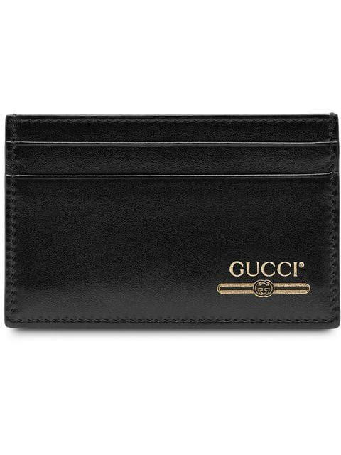 742c599f508 Gucci Leather Card Case With Gucci Logo