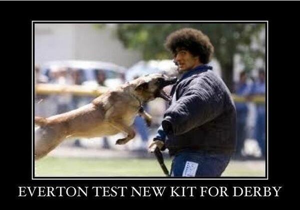 Everton's new derby kit