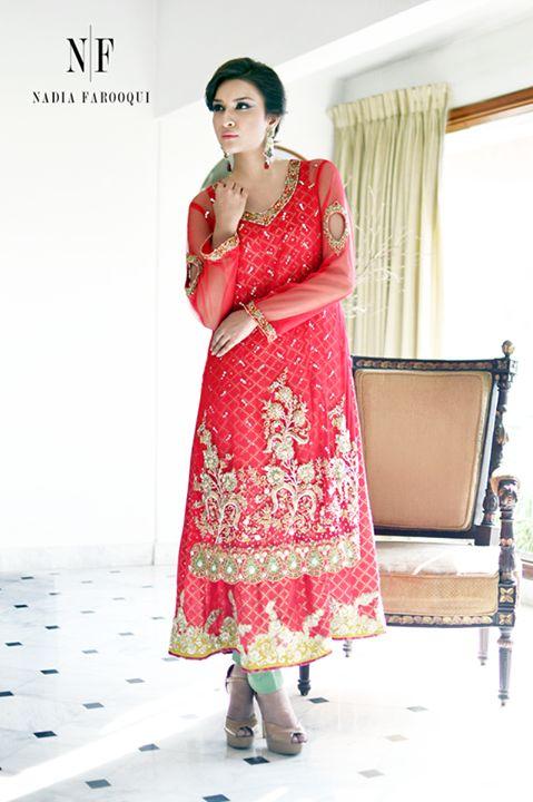 pakistani semi formal dresses 2015 by nadia farooqui