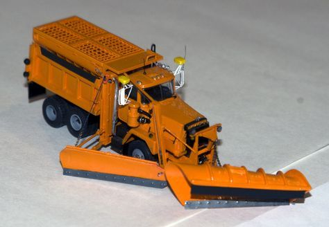 state plow trucks | Mack RM686 Snow Plow - By David Ramsden