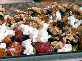 Roasted Beet Salad with Candied Walnuts Recipe - added romaine lettuce and used red wine and balsamic vinegar instead of sherry vinegar. Bomb!