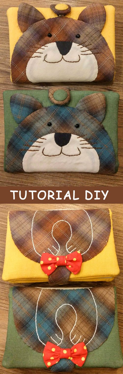 How to do Passport or Notebook Case Cover sewing quilt applique Japanese Patchwork. Photo DIY Tutorial. http://www.handmadiya.com/2015/10/passport-case-japanese-patchwork.html