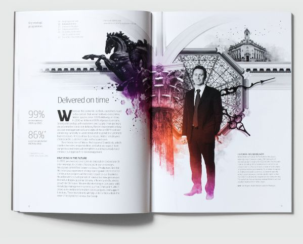 Love this Layout. Gorgeous illustration, lovely colour and awesome typesetting.