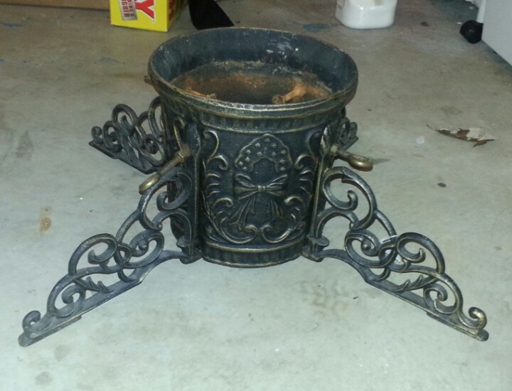 Cast Iron Christmas Tree Stand For Six Dollars